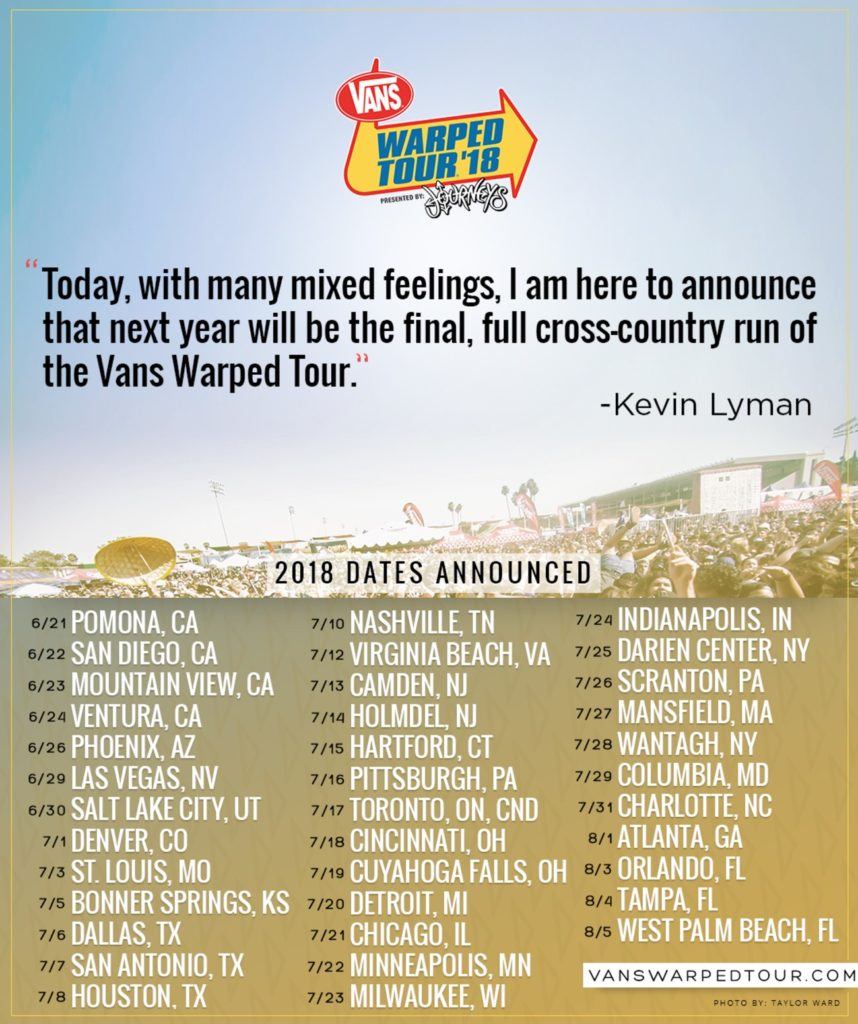slipknot vans warped tour 2018